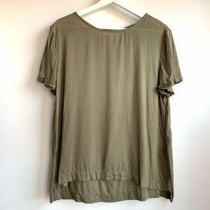H&M army green super soft blouse EUC 100% viscose